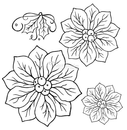 Heartfelt Creations Stempel Regal Poinsettia 2 HCPC2291