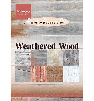 Marianne D Papierblock A 5 HOLZSTRUKTUR 14,7 x 21 cm / Weathered Wood PK9155