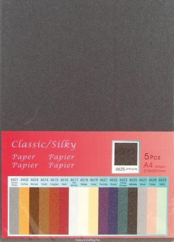 Papier A 4 Classic Silky ANTHRAZIT ( 5 Blatt ) 652000/4625