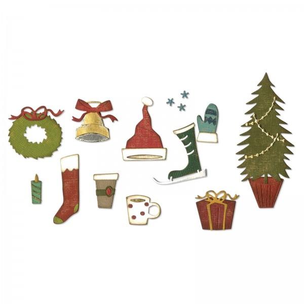 Sizzix Stanzform Thinlits weihnachtliche Symbole / Festive Things 664191