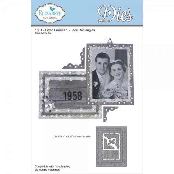 Elizabeth Craft Stanzform Rahmen Rechteckig / Fitted Frames 1 - Lace Rectangles 1061