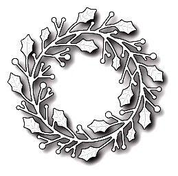 Poppystamps Stanzform Kranz / Home for the Holidays Wreath 1646