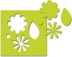 EK Success Slim-Motivstanzer large flowers & leaves 54-30035 / 54-30163