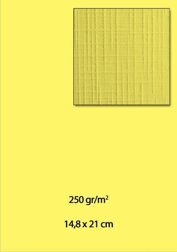 Leinenkarton A5 DAMAST HELL-GELB ( 10 Stück )