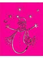 Nellie Snellen Metall-Prägeschablone Schneemann LD009 ( pink )