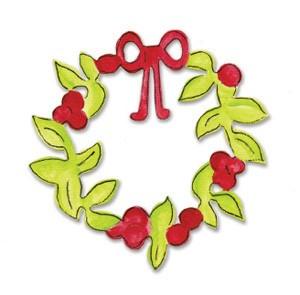 Sizzix Original Weihnachtskranz / wreath Christmas 655 537