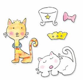 Sizzix Stanzform Sizzlits SMALL 3-er Katzen-Set / cat set 655814
