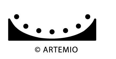 ARTEMIO Moitvstanzer Border Arrondi (Großbogen mit Punkten)10003007( ora