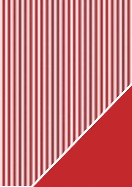 Bastelkarton Streifen A 4 KLASSIK - ROT 80-588-287