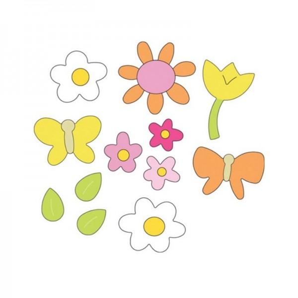 Cuttlebug Stanzform 1-er MEDIUM Frühlingsblumen / spring floral 37-1109