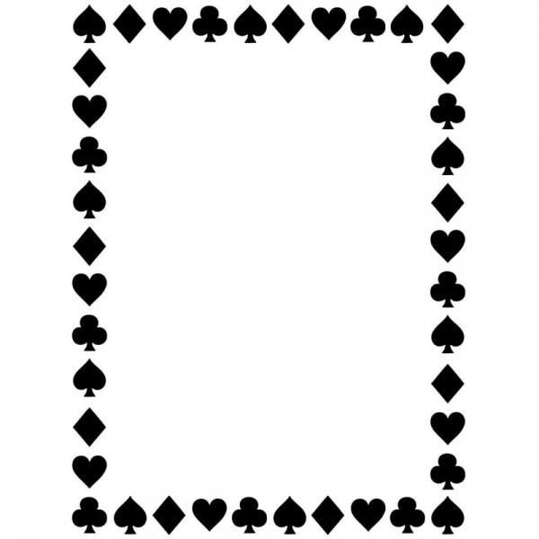 Darice Prägefolder Kartenspiel-Figuren / Card Suits 1218-112