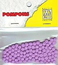 Nellie Mini Pompons / Pompon 3 mm HELL-LILA / Orchid POM009