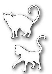 Poppystamps Stanzform Katzen / Playful Kitties 1243