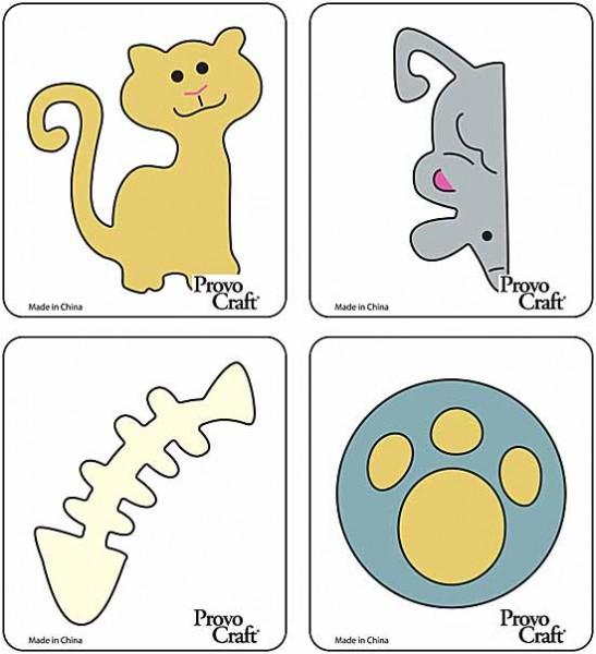 Cuttlekids 4-er Set Katze / kitty cat 62-0056