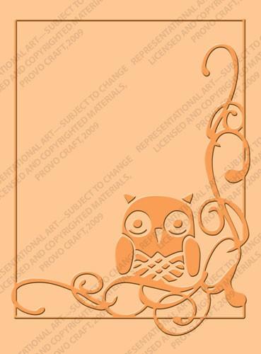 Cuttlebug Prägefolder Owl Florish 37-1913