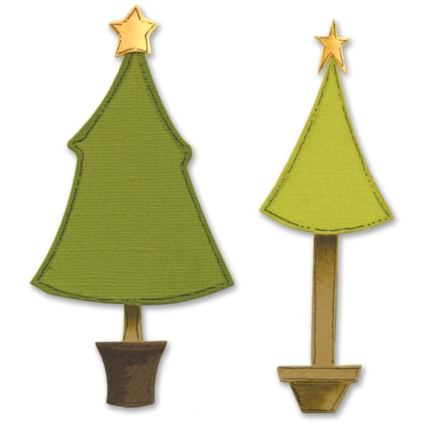 Sizzix Stanzform BIGZ Weihnachtsbäume / christmas trees 655378