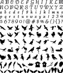 Slice Design Karte Aviary / Vögel, Schmetterlinge u. Flügel 3568