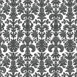 Folie transparent mit schwarzem geflocktem floralem Muster 30,5