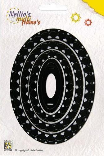 Nellie Stanzform Multi-Frame oval gewellt MFD007