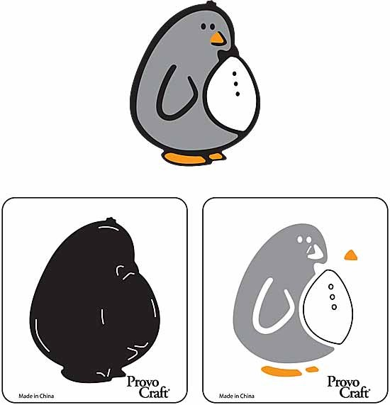 Cuttlekids 2-er Set Pinguin / penguin 62-0018