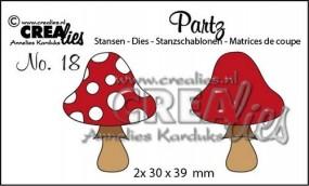 Crealies Partz Nr.18 Pilz B CLPartz18