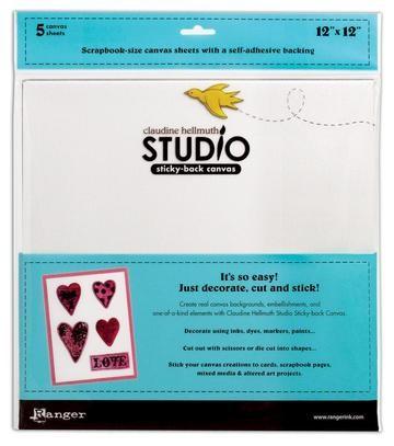 """Canvas Studio Sticky-Back 12 """" x 12 """" (30,5 cm x 30,5 cm ) WEISS HSA24903"""