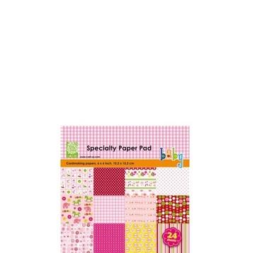 Cart-Us Paper Pad BABY GIRL 15,2 x 15,2 cm 980010/0001