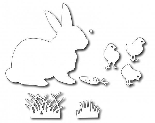 Frantic Stamper Stanzform Hase, Küken, Karotte u. Gras / Easter Bunny & Chicks FRA-DIE-09129