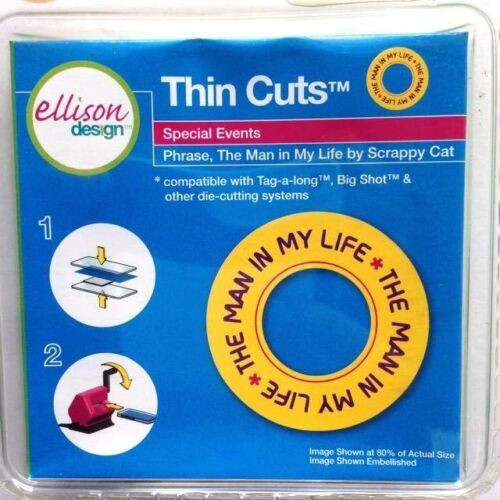 "Ellison Design Thin Cuts Stanzform Satz "" the man in my life "" / phrase the man in my life 22777"