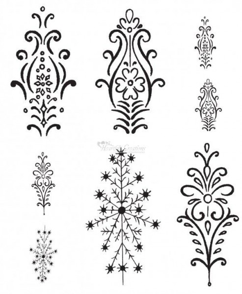 Heartfelt Creations Stempel snowflake Medallions HCPC3335