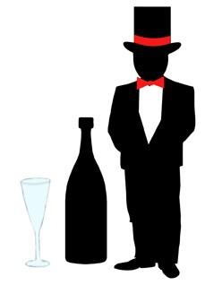 Bräutigam & Flasche u. Sektglas / groom & vine 0394