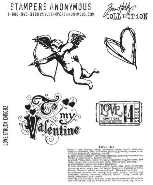 Tim Holtz Stempel Love Struck CMS082