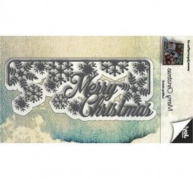 Joycrafts Stanzform ' Merry Christmas ' u. Schneeflocken / Christmas Christmas with Snowflakes 6002/