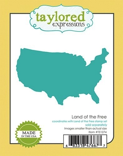 Taylored Expressions Stanzform USA Landkarte / Land Of the Free TE1274