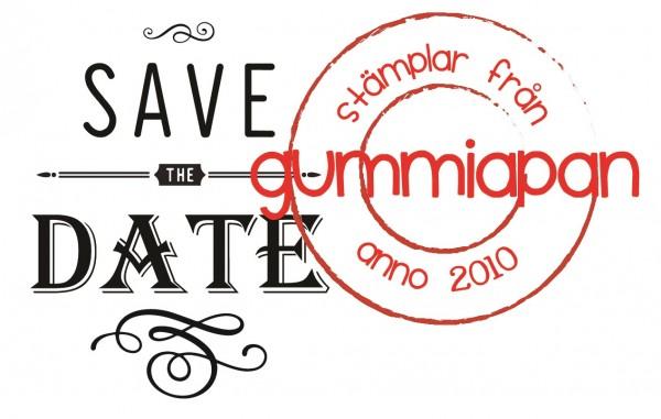 Gummiapan Stempelgummi ' SAVE THE DATE ' 19040418