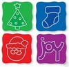 Sizzix Stanzform Sizzlits SMALL 4-er Set Weihnachten / christmas set 38-9620