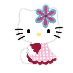 Sizzix Stanzform BIGZ Hello Kitty mit Blume / w / flower 655799