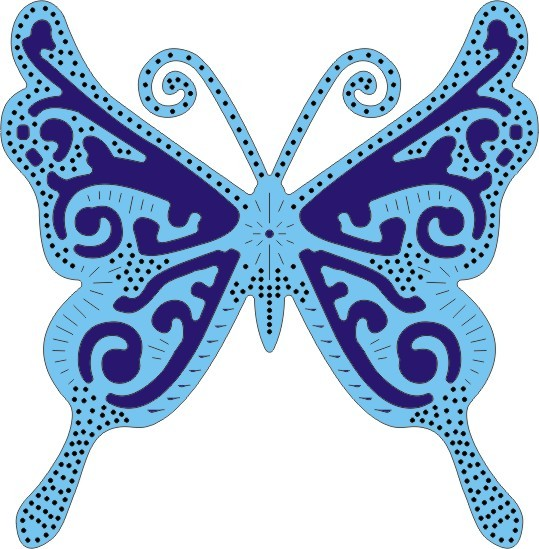Cheery Lynn Exotic Butterfly large # 1 DL117