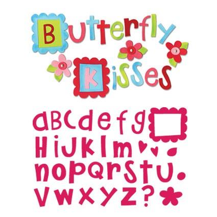 Sizzix Stanzform BIGZ Alphabet-Set Butterfly Kisses 3,8 cm ( 4 BIGZ Stanzformen ) 656775
