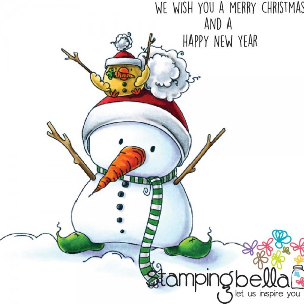 Stampingbella Cling Stempel Schneemann / Snowman With Chick On Top EB440