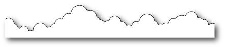 Poppystamps Stanzform Wolken-Border/Delicate Cloud Border 1101