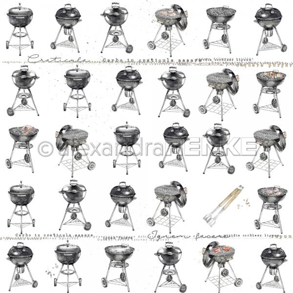 Alexandra Renke Designpapier ' Grill ' 10.1009