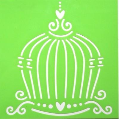 Joy!Crafts Prägeschablone Plastik quadratisch Vogelkäfig 6002/0801 ( hellgrün )