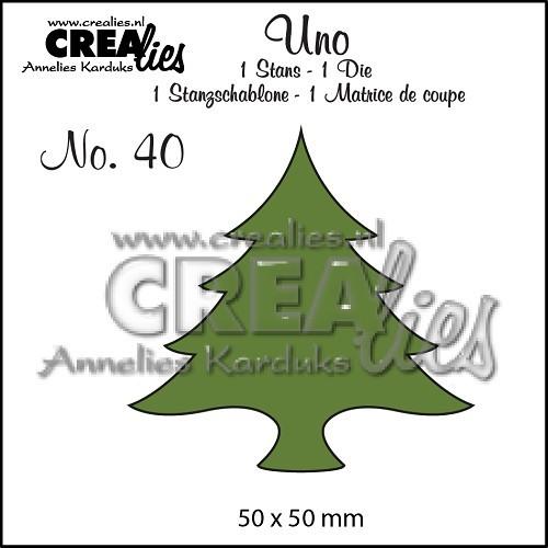 Crealies Stanzform Uno Baum breit Nr. 40 CLUno40