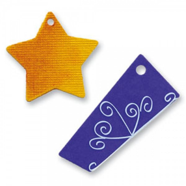 Sizzix Sizzlits Stanzform SMALL Anhänger # 2 / tags # 2 38-8080 / 654539