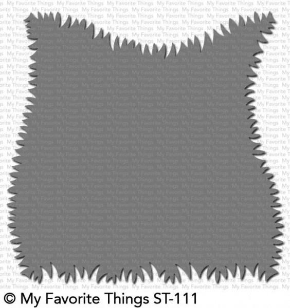 Dienamics Stencil Plastik-Schablone Gras-Ränder / Grassy Edges ST-111