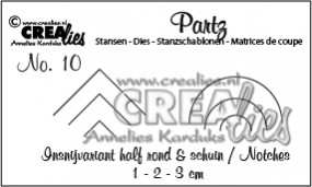 Crealies Partz Nr. 10 Schnitte halbrund u. rechtwinklig / Notches CLPartz10