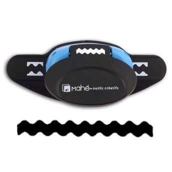 Toga Borderstanzer Rickrack Croquet OPB03 ( blau-schwarz )