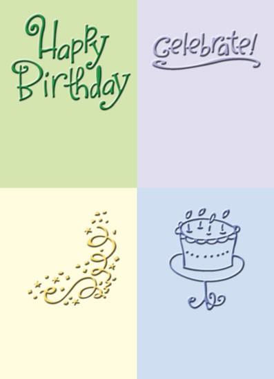 Cuttlebug Prägefolder-Set Geburtstag / birthday 37-1235