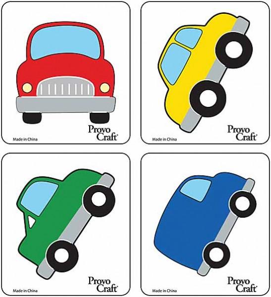 Cuttlekids 4-er Set Autos / cars 62-0046